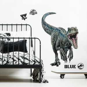 RoomMates Jurassic World 2 Blue Velociraptor Giant Wall Decal