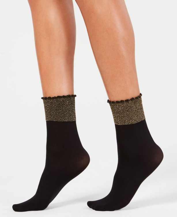 Glittery Cuff Anklet Socks