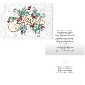 Paper Filigree Christmas Card Set of 20
