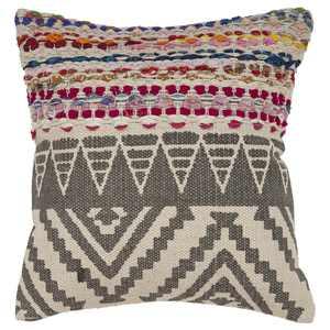 "LR Resources Home Boho Geometric Multi Color Throw Pillow 18"" x 18"""