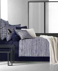 Oscar|Oliver Flen Cotton 4-Pc. Indigo Queen Comforter Set