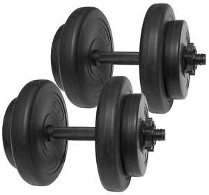 Everyday Essentials Vinyl Dumbbell Set, 40 lbs (20 lbs Pair)