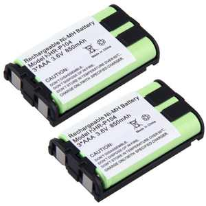 2 Pack - Cordless Phone Battery for Panasonic HHR-P104