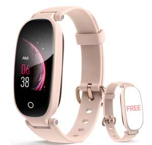 Fashion Activity Tracker with Heart Rate and Sleep Monitor, Pink Sports Pedometer, SMS Notification, Multi-function Smartwatch with Waterproof IP68, Fitness Tracker for Girl, Women, and Gift