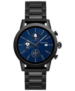 Women's Gigi ToryTrack Black Stainless Steel Bracelet Touchscreen Smart Watch 40mm