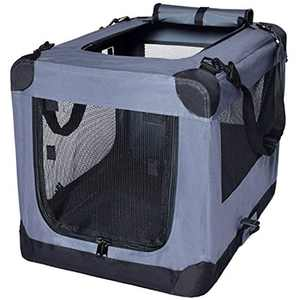 Dog Soft Crate 26 Inch Kennel for Pet Indoor Home & Outdoor Use Soft Sided 3 Door Folding Travel Carrier with Straps Arf Pets