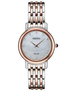 Women's Diamond-Accent Two-Tone Stainless Steel Bracelet Watch 29.5mm, Created for Macy's