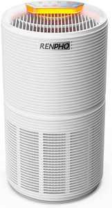 RENPHO Air Purifier for Home Large Room 240 Sq.ft, True HEPA Filter Air Cleaner Odor Eliminators for 99.97% Allergies, Smoke, Odors, Dust, Germs, Pets Dander