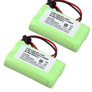 2X Cordless Home Phone BT-1007 Battery For Uniden DECT 6.0 models BBTY0624001 GE: 1833916, 26602, TL26602