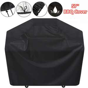 """Waterproof BBQ Cover, 57"""" Barbecue Grill Cover, Anti-UV Durable Backyard Grill Cover, Outdoor Grill Protector Cover with Adjustable Straps"""