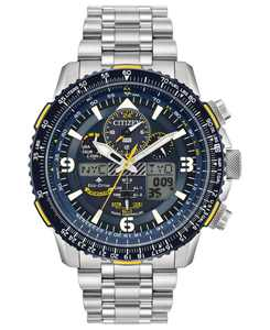 Eco-Drive Men's Analog-Digital Promaster Blue Angels Skyhawk A-T Stainless Steel Bracelet Watch 46mm