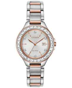 Eco-Drive Women's Silhouette Crystal Two-Tone Stainless Steel Bracelet Watch 31mm