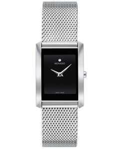 Women's Swiss La Nouvelle Stainless Steel Mesh Bracelet Watch 21x29mm