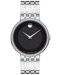 Men's Swiss Esperanza Diamond (1/3 ct. t.w.) Stainless Steel Bracelet Watch 39mm