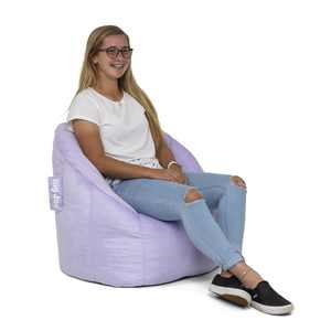 Big Joe Joey Bean Bag Chair, Purple Plush Fabric