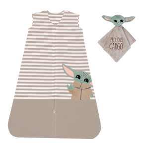 Lambs & Ivy Star Wars Mandalorian Baby Yoda Wearable Blanket/Lovey Gift Set 2pc