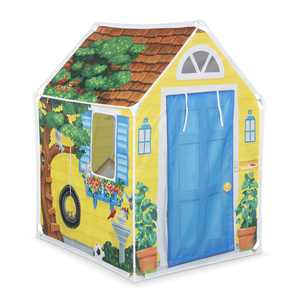 Melissa & Doug Cozy Cottage Fabric Play Tent and Storage Tote