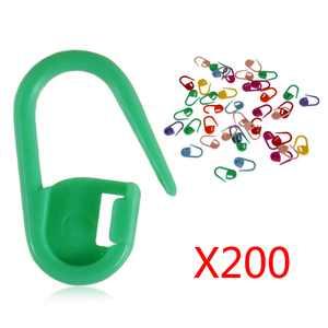 200pcs Colorful Knitting Stitch Counter Knitting Weave Crochet Locking Stitch Markers Stitch Needle Clip
