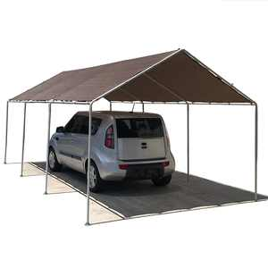 Alion Home Heavy Duty 12 Mil Poly Tarps Waterproof Covers for Tarpaulin Canopy, Camping, Carport, Boat, Furniture, Floors, RV, Pool or Roof Repair Items (8x10 ft, Brown)