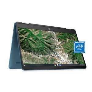 Refurbished HP X360 14 Celeron 2-in-1 Touch 4GB/64GB Chromebook-Teal, Intel Celeron N4020, 4GB RAM, 64 GB eMMC, Teal, 14a-ca0030wm