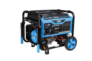 Pulsar 12,000W Dual Fuel Portable Generator with Electric Start, CARB Approved