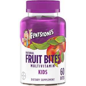 Flintstones Kids Natural Fruit Bites Multivitamin, 60 Count