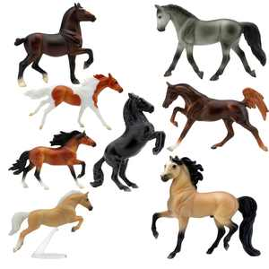 Breyer Stablemates Deluxe Horse Collection Figure Set w/ 8 Horses - 1:32 Scale