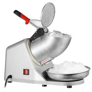 ZENSTYLE Electric Ice Shaver 300W 2000r/min w/Stainless Steel Blade Shaved Ice Snow Cone Maker Kitchen Machine Silver