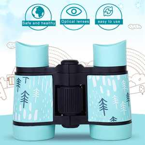 Kid Binoculars Shock Proof Folding Toy Telescope Set - Bird Watching - Educational Learning - Presents for Kids - Children Gifts - Outdoor Play - Hunting - Hiking - Camping Gear