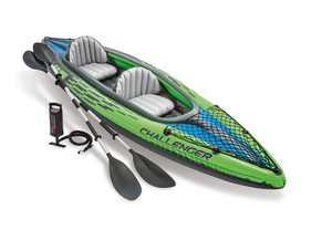 Intex Challenger K2 Kayak, 2-Person Inflatable Kayak Set with Aluminum Oars a...