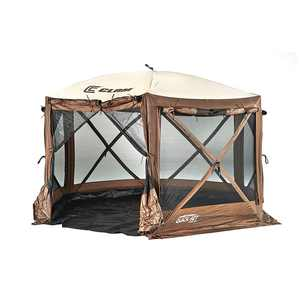 CLAM Quickset Pavilion 12.5' Portable Outdoor Gazebo Canopy Tent with Floor Tarp