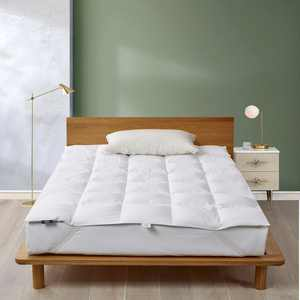 Serta White Goose Feather And Down Fiber Featherbed