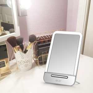 Abody Rechargeable LED Cosmetic Makeup Mirror Portable Touch Screen Night Light Table Lamp