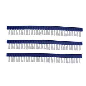 """Pack of 3 Blue Long Replacement Brushes for Swimming Pools and Spas Vacuum Head 9"""""""