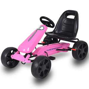 Go Kart Kids Ride On Car Pedal Powered 4 Wheel Racer Stealth Outdoor Toy Pink