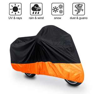 XXXL Black Orange Motorcycle Cover Waterproof 295x110x140cm for Harley Davidson Street Glide Touring
