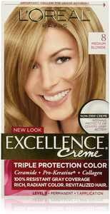 L'Oreal Paris Excellence Crme Permanent Hair Color, 8 Medium Blonde 1 ea