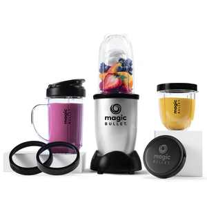 Magic Bullet Personal Blender with 3 Cups, Silver, MBR-1101