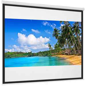 Best Choice Products 119in Projector Screen, Indoor HD Manual Pull Down Projector for Home Theater, Office - White