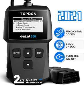 OBD2 Scanner Topdon AL200 Car Diagnostic Scan Tool for DTC Reading/Clearing MIL Turn-Off