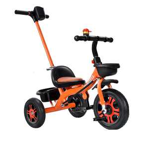 Kids Push Tricycle Pedal Tricycle for 1 to 6 Years Old-Toddler,Stroll Trike w/ Adjustable Parent Push Handle for Steering and Toy Sand Bucket