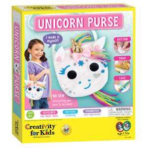 Creativity for Kids Make Your Own Unicorn Purse, One Size, Child, Craft Kit, One Size, Unisex