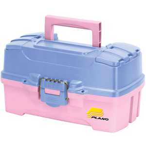 Plano Two-Tray Tackle Box with Dual Top Access, Pink/Periwinkle