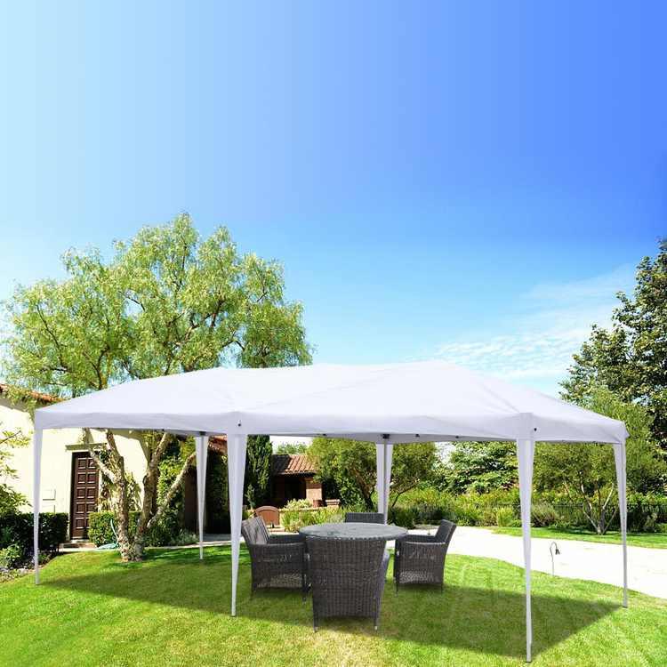 Zimtown 10'x20' Pop Up Wedding Party Tent Folding Gazebo Beach Canopy W/ Carry Bag-White