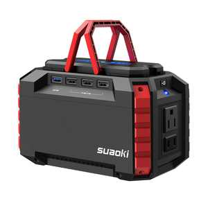 SUAOKI Portable Power Station 150Wh Quiet Gas Free Solar Generator QC3.0 UPS Lithiium Power Supply with Dual 110V AC Outlet, 4 DC Ports, 4 USB Ports, LED Flashlights for Camping Travel CPAP Emergency