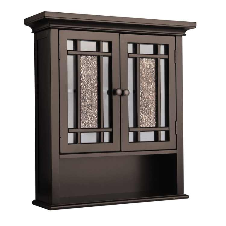 Elegant Home Fashions Windsor Wooden Wall Cabinet, Dark Espresso