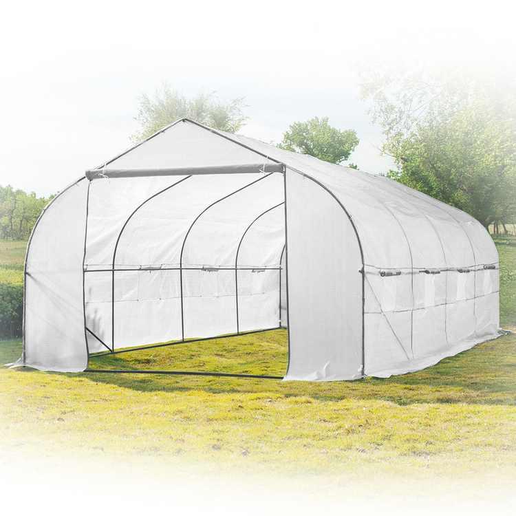 Biltek - 20' x 10' x 7' - White - Large Portable Walk-In Greenhouse