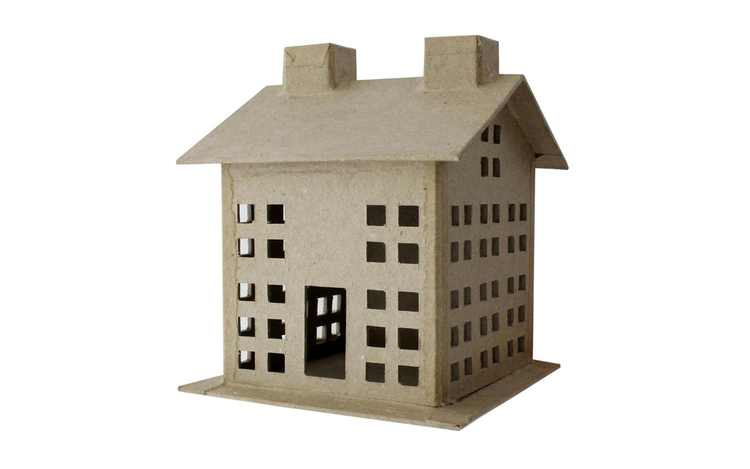 PA Paper Mache 3D House Small Style B