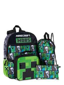 Minecraft 3 Piece Backpack Set