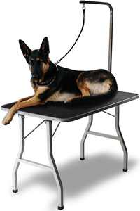"Paws & Pals 30"" Large Pet Foldable Grooming Table, Adjustable ARM Noose Groom"